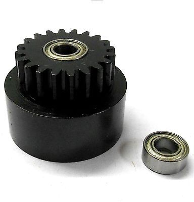 1/10 1/8 Scale .18 + Engine Clutch Bell Housing 20 Tooth Teeth 20T + 2 Bearings