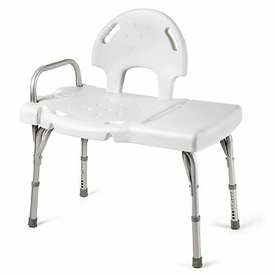 Invacare Heavy Duty Bath Tub Shower Transfer Bench Chair with Hand Rail 9670U