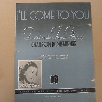 songsheet I'll COME TO YOU Chanson Bohemienne, Margaret Eaves