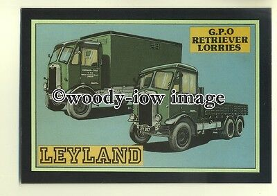 ad0049 - Leyland GPO Retriever Lorries - modern advert postcard