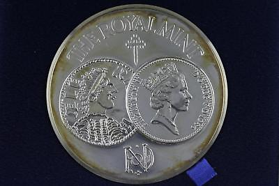 1986 Royal Mint 1100 Years Anniversary Minting 148 Grams .925 Silver Medal