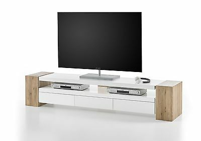 tv rack weiss matt betonoptik woody 41 02600 eur 299 00. Black Bedroom Furniture Sets. Home Design Ideas