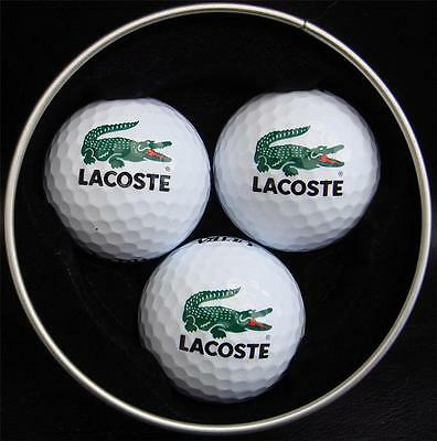 LACOSTE Golf Balls 3 Ball - Supplied in a Silver Tin - MRP £14.99 Now Only £7.99