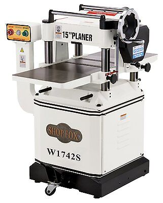 Shop Fox W1742W 15' Planer with Cast Iron Wings & Mobile Base - Free Shipping