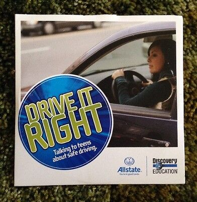 Drive It Right Teen Driving DVD Allstate Insurance  Very Rare