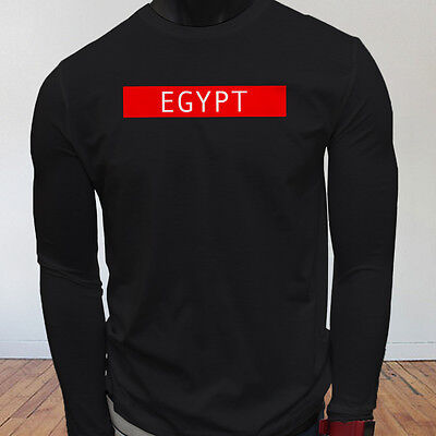 Spooky Egyptian Ancient Egypt Pyramid Mummy  Mens Black Long Sleeve T-Shirt