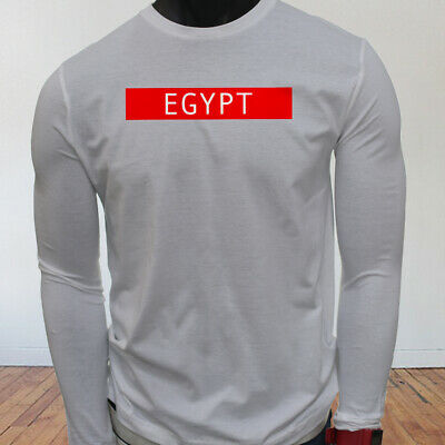 Spooky Egyptian Ancient Egypt Pyramid Mummy  Mens White Long Sleeve T-Shirt