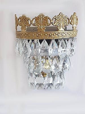 Gorgeous Vintage/French Style Crystal Glass Wall Lights WL00-2G