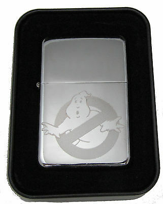 GhostBusters Ghost Busters Chrome Engraved Cigarette Lighter LEN-0160