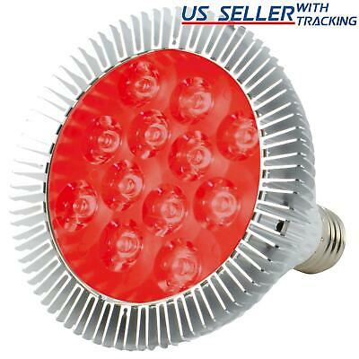 ABI 12W Deep Red 660nm LED Bloom Booster Grow Light Bulb for Plant Bud Flowering