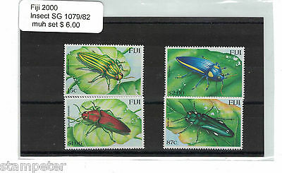 2000 Fiji Islands Insects SG 1079/82 Set of 4 MUH