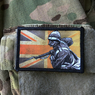 British Redcoat Morale Patch Zulu Tactical Military Army Badge Hook Flag