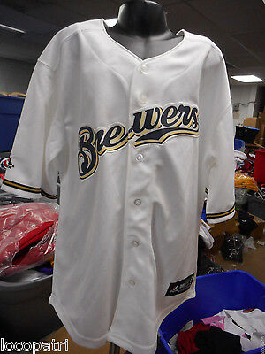 Majestic MLB Youth Milwaukee Brewers Baseball Jersey NWT L