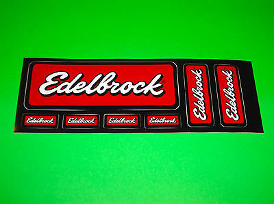 Edelbrock Performance Carburetors Superchargers Intake Manifold Decals Stickers