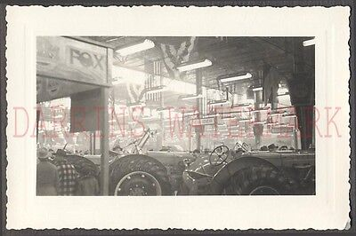 Vintage Photo Minneapolis Moline Farming Tractors w/ New Idea Sign 675823