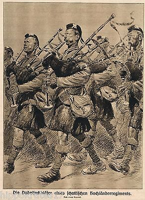 SCHOTTLAND, Bilddokument, Dudelsackbläser Regiment WW1 scotland highlands /30