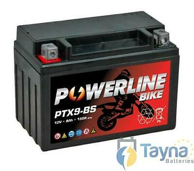YTX9-BS Powerline Batterie Moto GEL AGM 12V 9Ah Sans Entretien GTX9-BS CTX9-BS