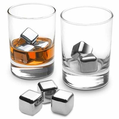 Reusable Stainless Steel Ice Cubes Alcoholic Beverages Wine Beer Water Vodka