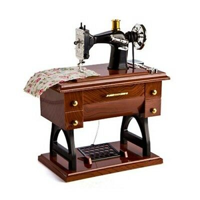 Vintage Animated Sewing Machine Musical Lover Box Perfect Decor Home Crafts