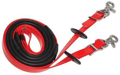 Zilco Deluxe SS Endurance Rubber Grip Reins with Stainless Steel Clips