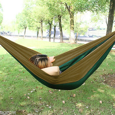 2 Person Double Hammocks Portable Jungle Camping Hammock Mosquito Net Military