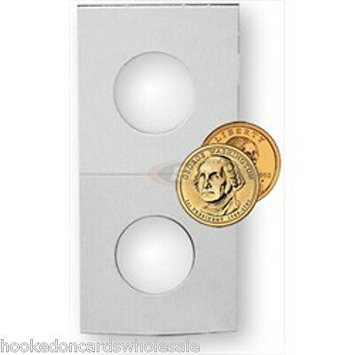 100 BCW 2 x 2 Cardboard Coin Flips Small Dollar Sacagwea 2x2 paper holders