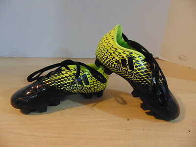 Soccer Shoes Cleats Childrens Size 10 Adidas Black Green