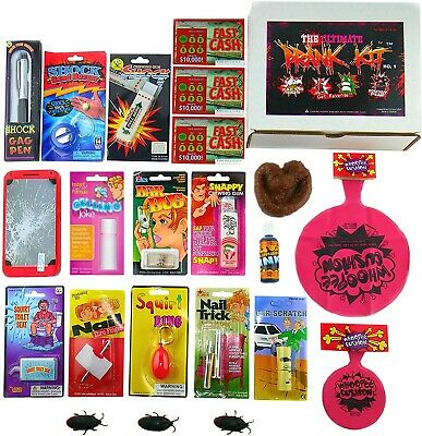 New The Ultimate Prank Kit No.1, 23 pranks all in 1 kit, Gag Gift, Prank Stuff