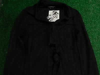 Anatomie Women's Button Down LS Mesh Black Coverup Jacket S Small New NWT