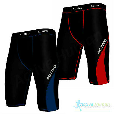 Activo Mens Compression Shorts Base Layer Briefs Pants Running Gym Fitness