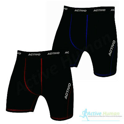 Activo Mens Compression Boxer Shorts Base Layer Briefs Pants Running Gym Fitness