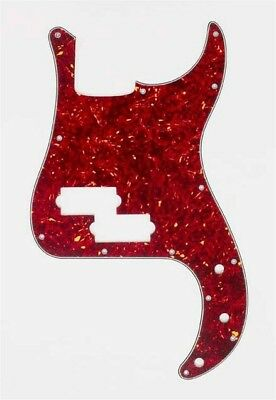 NEW Pickguard For Fender P. Bass, 3-Ply -VINTAGE RED TORTOISE
