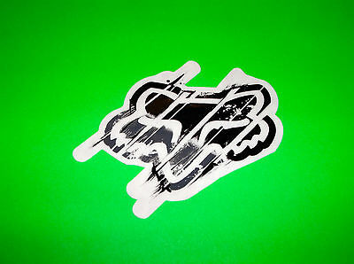 Fox Racing Motocross Atv Quad Skateboard Black & Grey Distorted Sticker Decal