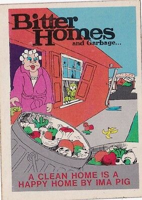 Vintage 1974 Fleer Crazy Covers Sticker Bitter Homes and Garbage