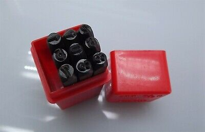 "4MM 5/32"" NUMBER Punch Stamp Set Metal-Steel-Hand 0-9"