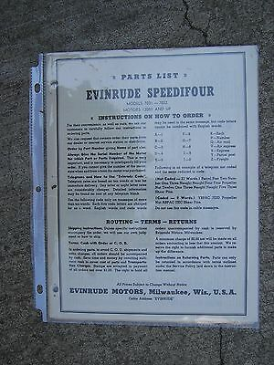 1947 evinrude speedifour outboard parts list 7031 7032 motors 04001  1950 evinrude speedifour 7031 7032 outboard original parts list more in store l