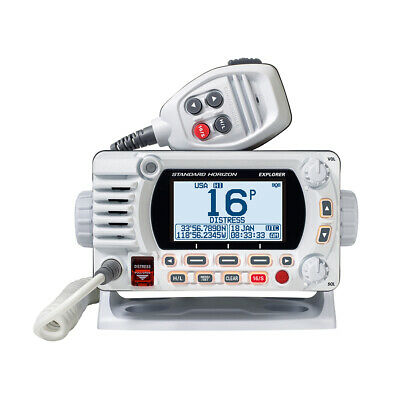 Standard Horizon Explorer GX1700 VHF Boat Radio with GPS NOAA DSC Class D White