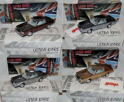 NEW Complete 4 Car Set GMP 1/18 ULTRA RARE 1987 Buick Regal T-Type D84 Blue/red