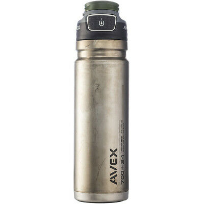 Avex 24 oz. FreeFlow Autoseal Stainless Steel Water Bottle -Unfinished Stainless