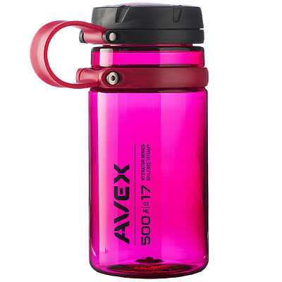 Avex 17 oz. Fuse Screw Top Wide Mouth Water Bottle - Berry