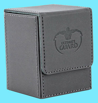 ULTIMATE GUARD XENOSKIN FLIP DECK CASE Standard Size GREY 100+ MTG Game Card Box