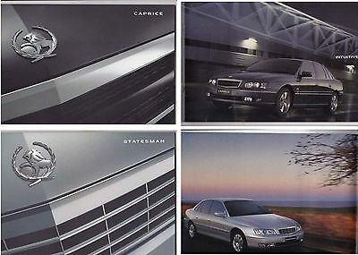 Two 2004 HOLDEN WL STATESMAN & CAPRICE Prestige 20p Brochures Like COMMODORE