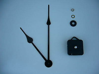 High Torque Clock Movement Short Spindle 230Mm Black French Spade Hands
