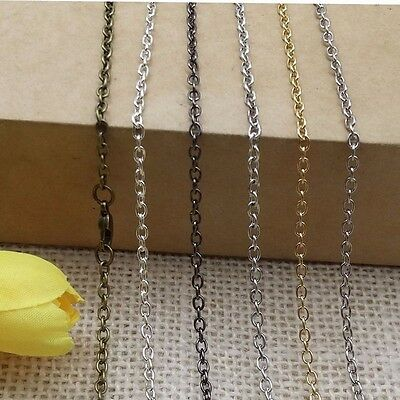 """Lot of 10pcs Lobster Clasp """"O"""" Metal Chains Necklace Pendant For Jewelry Making"""