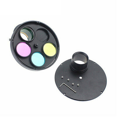 """2.0'' multiple Manual 5-Filter Wheel for Astrophotography w/ M48 to 2"""" T Adapter"""