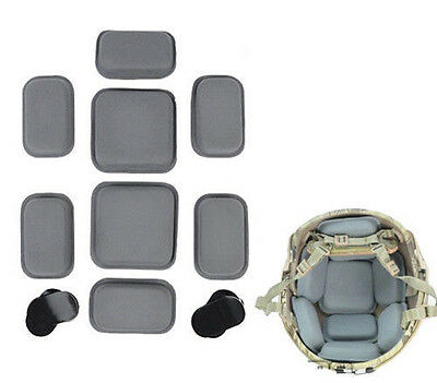Airsoft Military Tactical Outdoor Protective Pad For  Style Helmet Grey