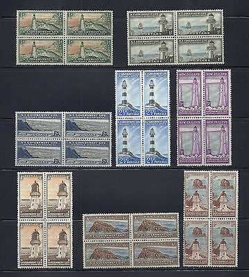NEW ZEALAND 1947-65 LIFE INSURANCE (SG L42-L49) VF MNH blocks of 4