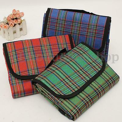 Size 290x150cm Picnic Mat Yoga Pad Rug Plaid Waterproof Outdoor Camping Beach