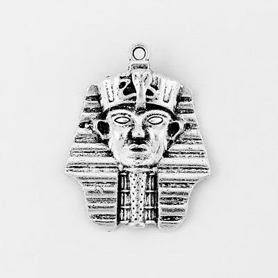 10pcs Antique Silver Egyptian Pharaoh King Tut Tutankhamen Egypt Charms Pendants
