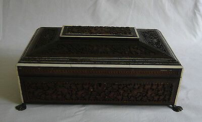 19th Century Anglo Indian Sewing / Work Box